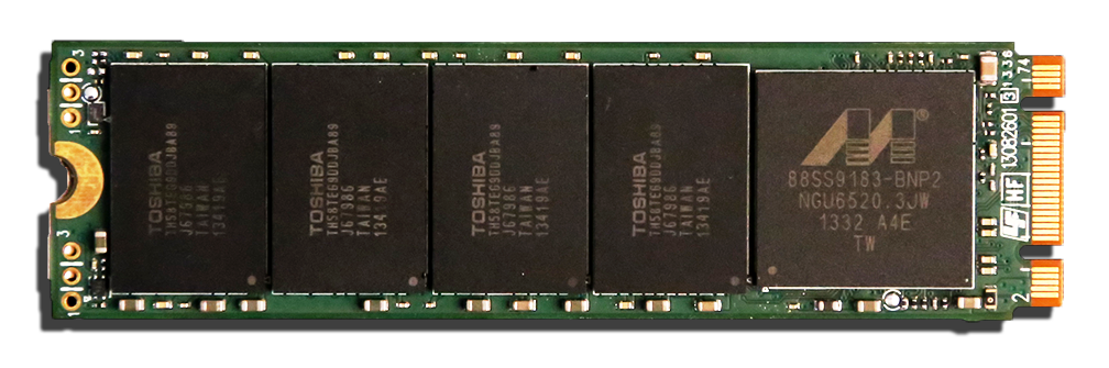 Plextor M6e PCIe M.2 512GB SSD PCB Bottom2