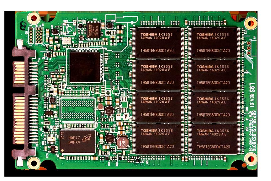 Plextor M6S 256GB SSD PCB Front