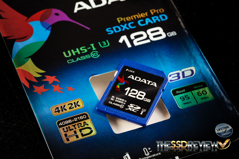 ADATA Premier Pro 128GB Angled