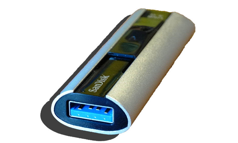 SanDisk Extreme PRO USB 3.0 128GB Flash Drive Front
