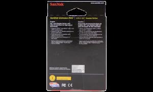 SANDISK SD CARD READER BOX BACK