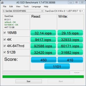 as-ssd SanDisk EX II Z97 Win8.1 IOPs 6.23.2014