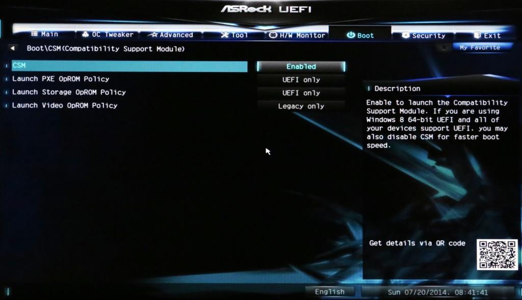 ASRock Z97 UEFI Mode