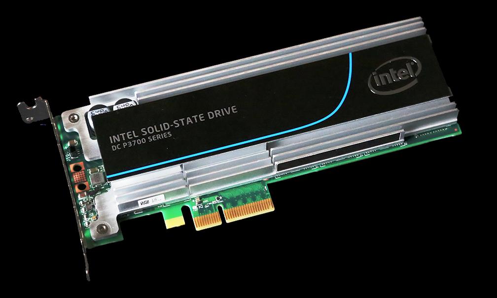 Intel P3700 NVMe 800GB SSD Angled