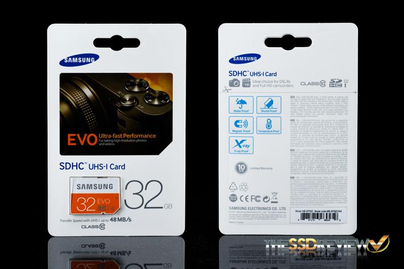 Samsung EVO SDHC 32GB Package