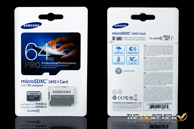 Samsung Pro microSDXC 64GB Package