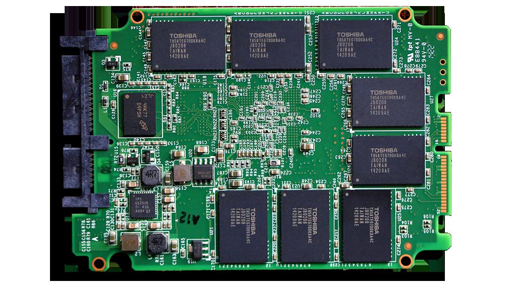 AMD Radeon 256GB SSD PCB Back