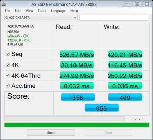 Angelbird SSD2Go 521GB SSD AS SSD Bench