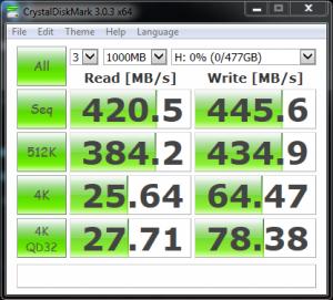 RAIDON Runeer JBOD Single Crucial MX100 512GB
