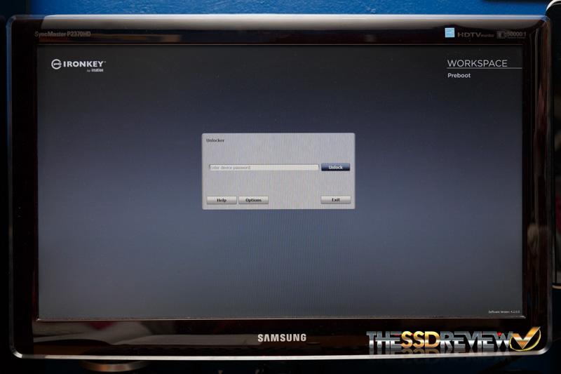 IronKey W700 pre-boot environment