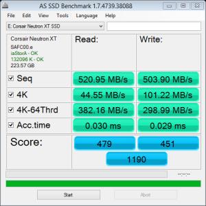 Corsair Neutron XT 240GB SSD AS SSD Bench