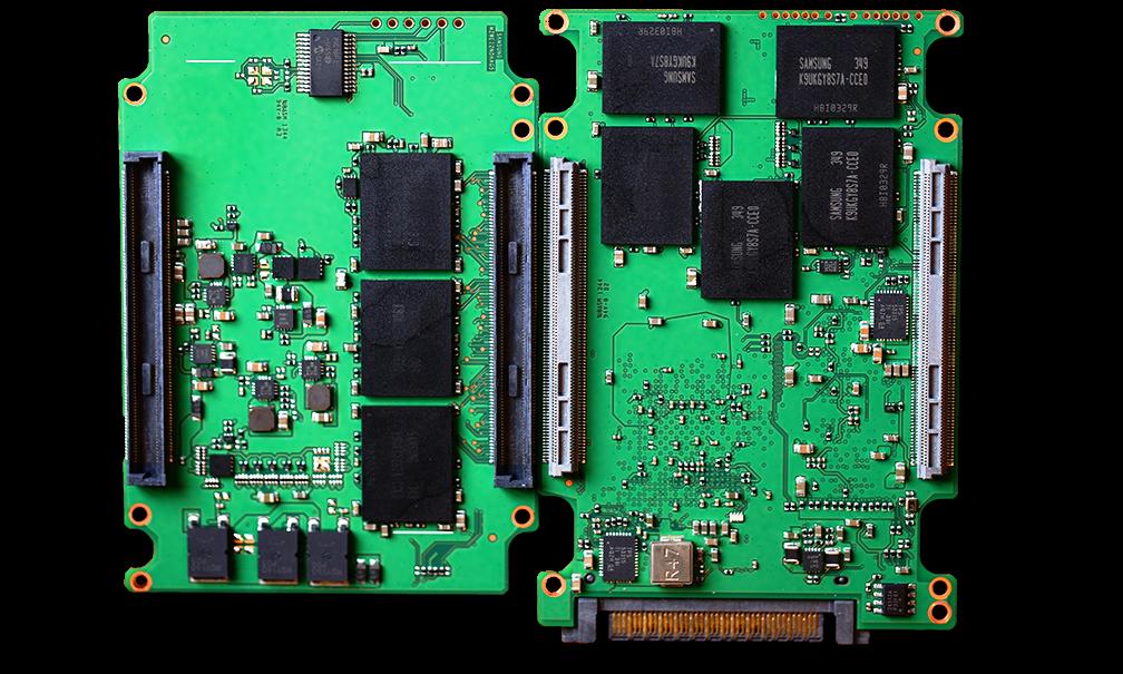 Samsung XS1715 1.6GB NVMe SSD PCB Inside