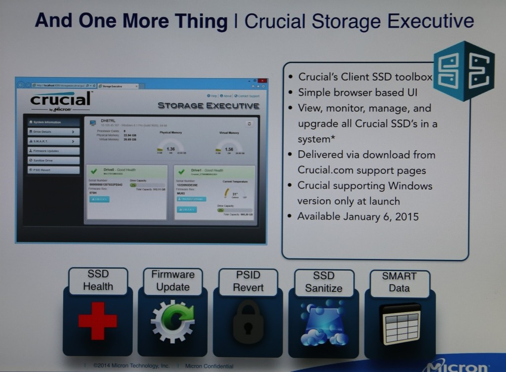 Crucial SSD CES2015 Storage Executive Slide