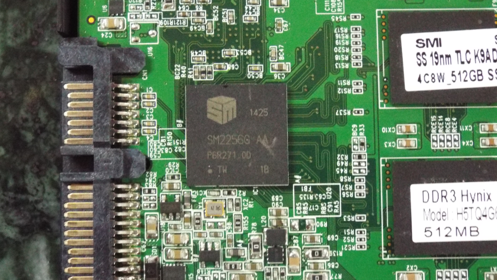 SM2256 closeup on sample