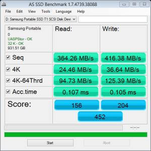 Samsung Portable SSD T1 AS SSD NTFS
