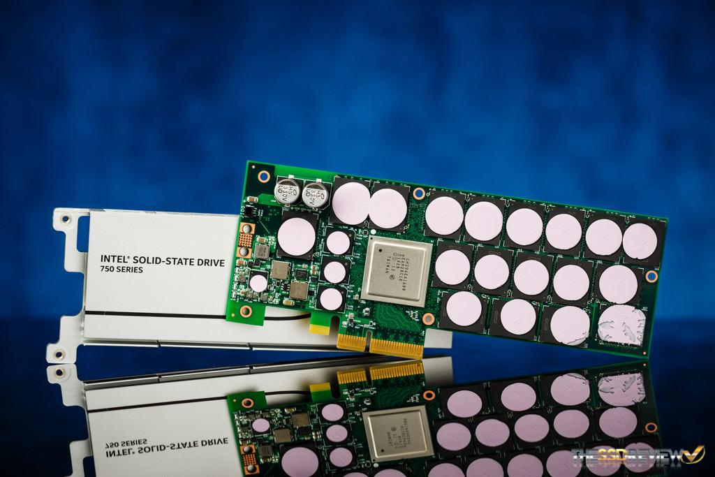 Intel 750 1.2TB PCB and Heatsink