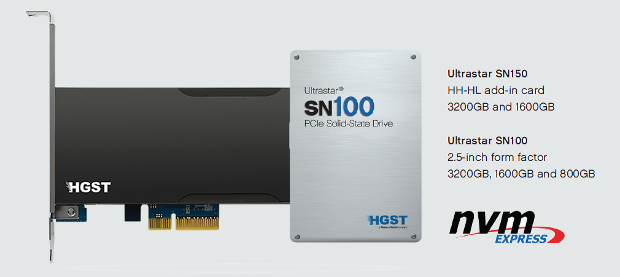 HGST SN100 botyh form factors