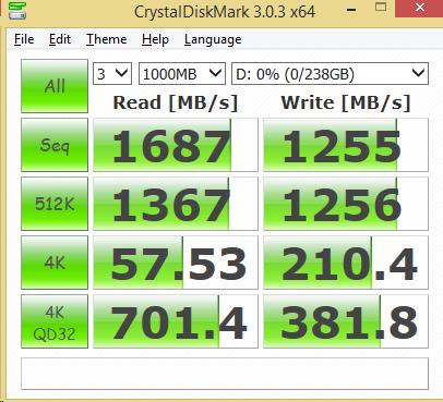 Samsung SM951 M.2 PCIe NVMe 256GB CDM