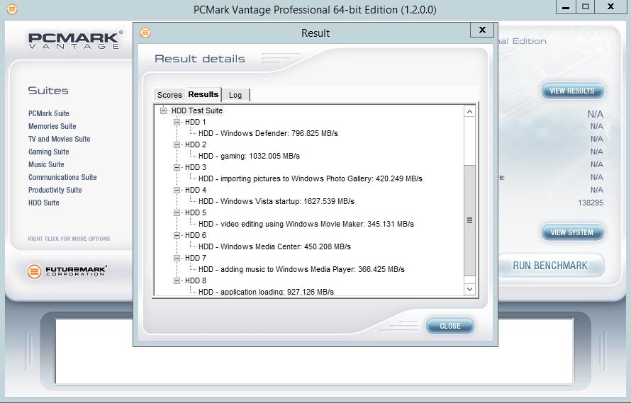 Intel 750 Series 400GB PCMark Vantage
