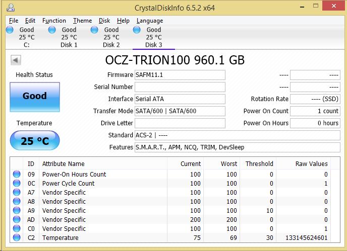 OCZ Trion 100 SSD CDI