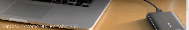 SanDisk Extreme 900 portable SSD banner