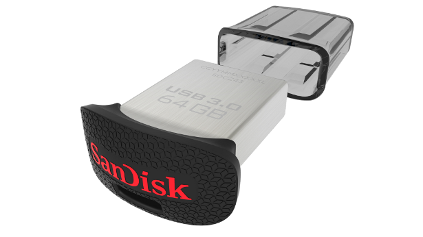 SanDisk UltraFit USB 3point0 flash drive angled