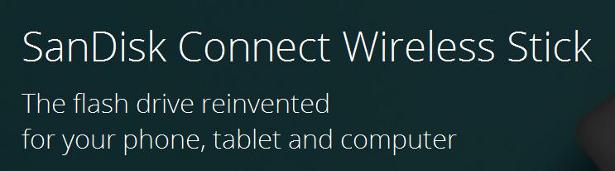 SanDisk Wireless Connect Stick banner
