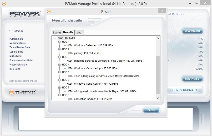 Adata Premier SP550 240GB PCMark Vantage