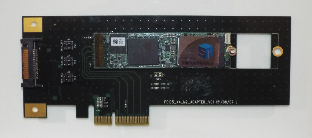Silicon Motion PCIe SSD on display