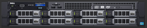 Dell R730 server front view no background