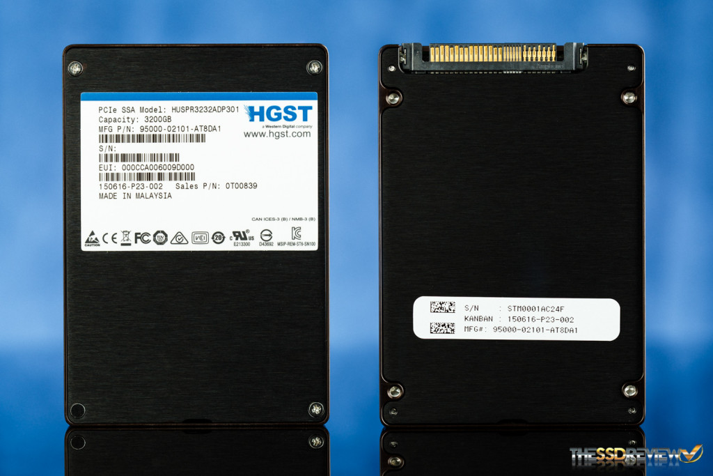 HGST SN100 SSD Font and Back