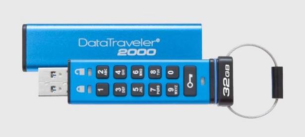 Kingston DataTraveler 2000 encrypted USB