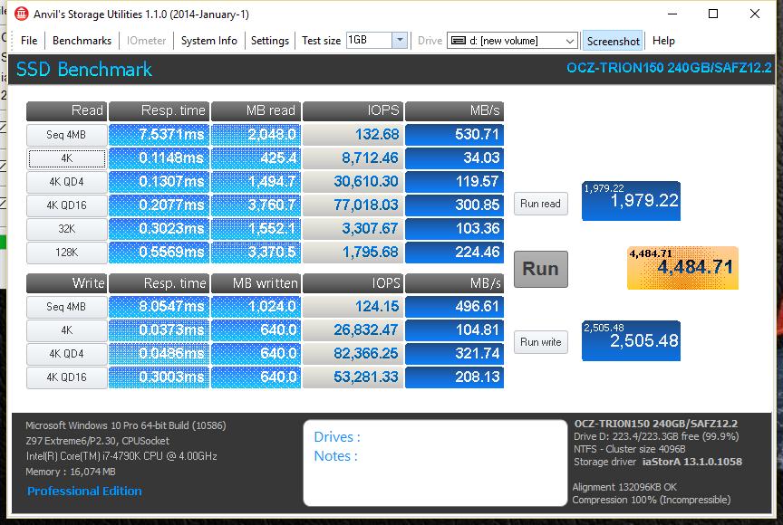 OCZ Trion 150 240GB SSD ANVIL