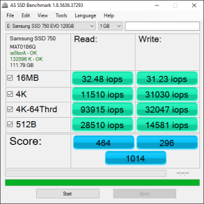 Samsung 750 EVO 120GB Tests 7