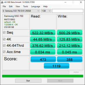 Samsung 750 EVO 250GB Tests 6