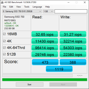 Samsung 750 EVO 250GB Tests 7