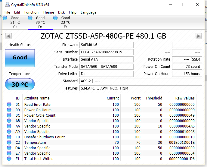 Zotac Premium Edition SSD 480GB CDI