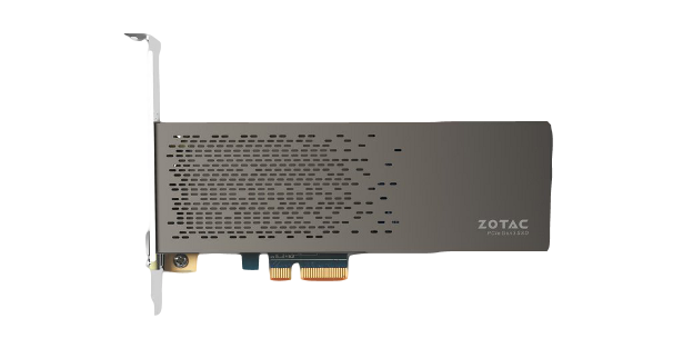Zotac SONIC PCIe SSD front view