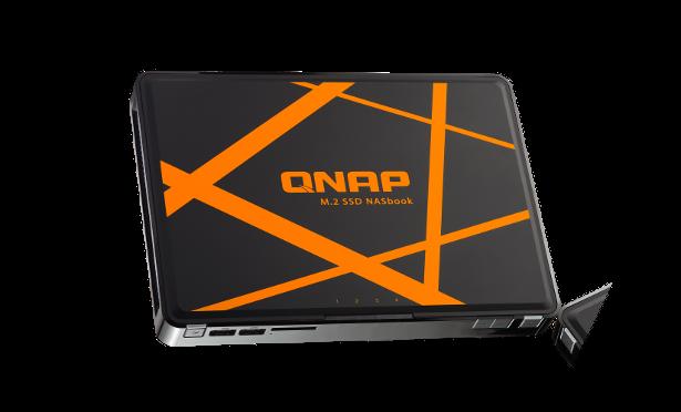 QNAP mdot2 NASbook angled