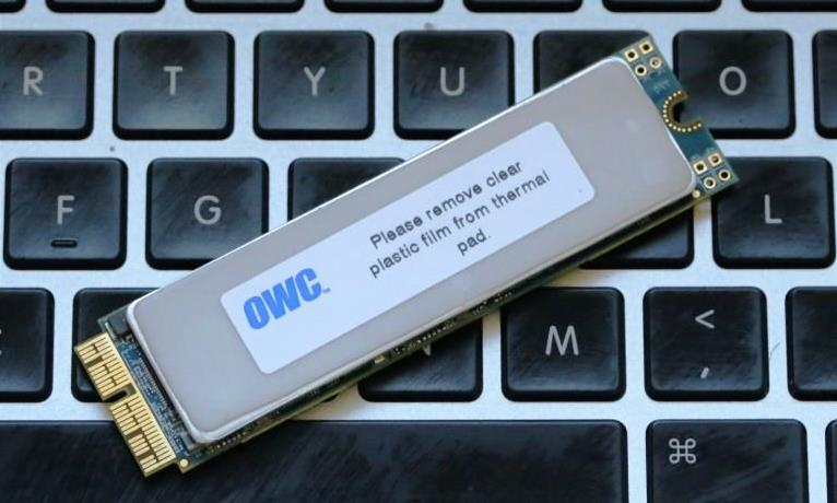 OWC Aura PCIe 1TB SSD (mid-2012) Angled