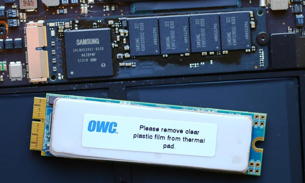 OWC Aura PCIe 1TB SSD (mid-2012) Extra