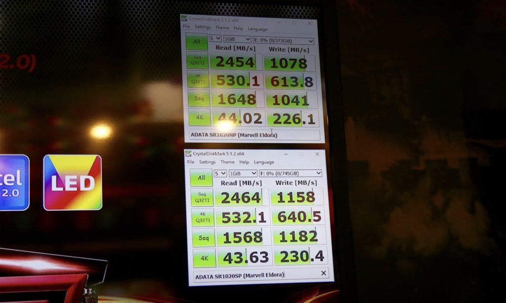ADATA SR1020 SSD Performance