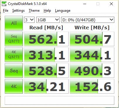 Intel 540s 480GB CDM