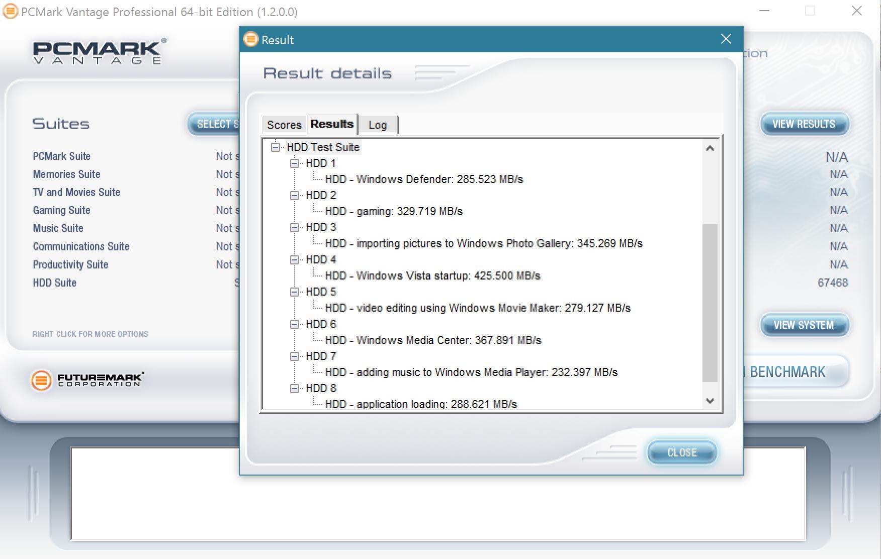 MyDigitalSSD BP5e 480GB M2 SATA 3 SSD PCMark Vantage