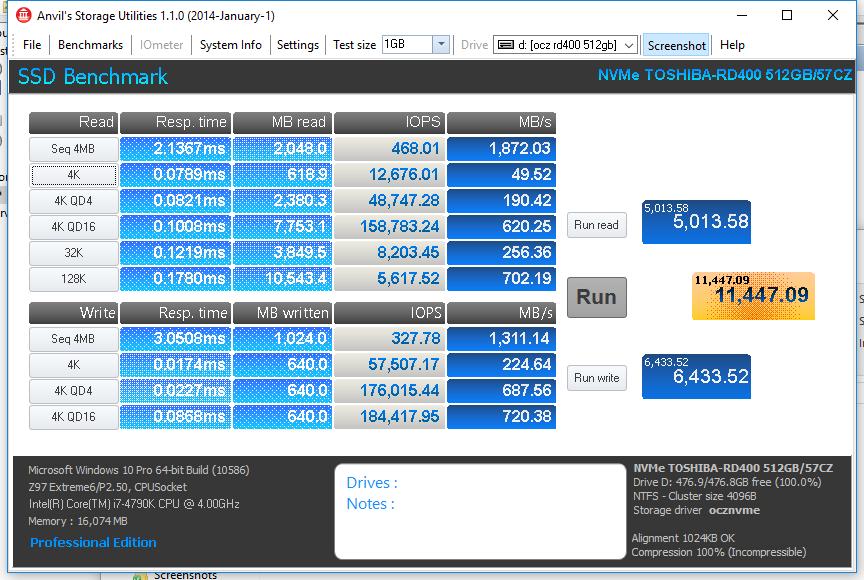 OCZ RD400 512GB ANVIL