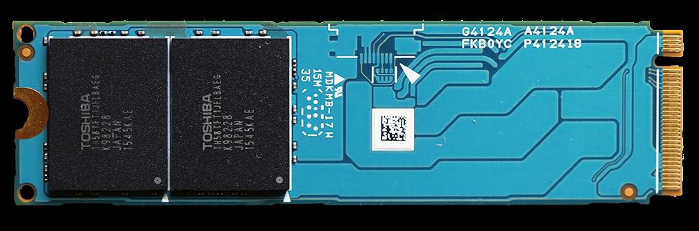 Toshiba XG3 1TB M.2 NVMe PCIe SSD Back