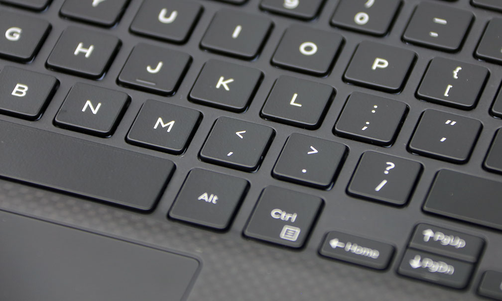 Dell XPS 13 9350 Keyboard CloseUp