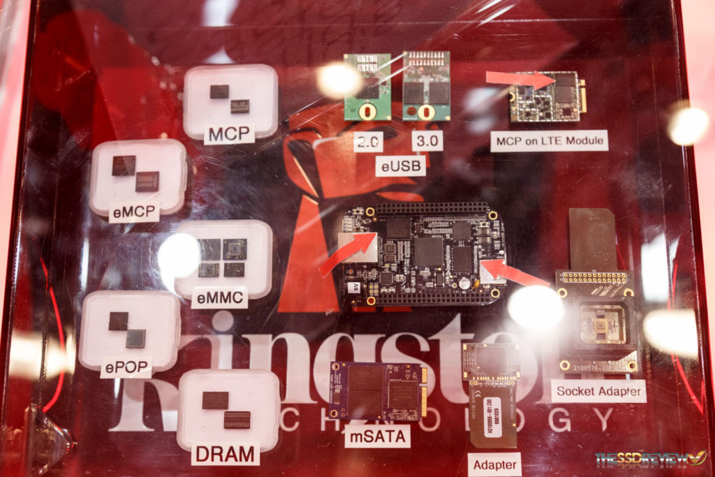 Kingston Booth FMS 2016 eMMC and packaging