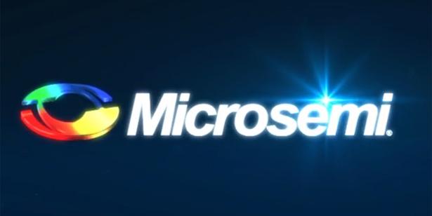 Microsemi logo dark background