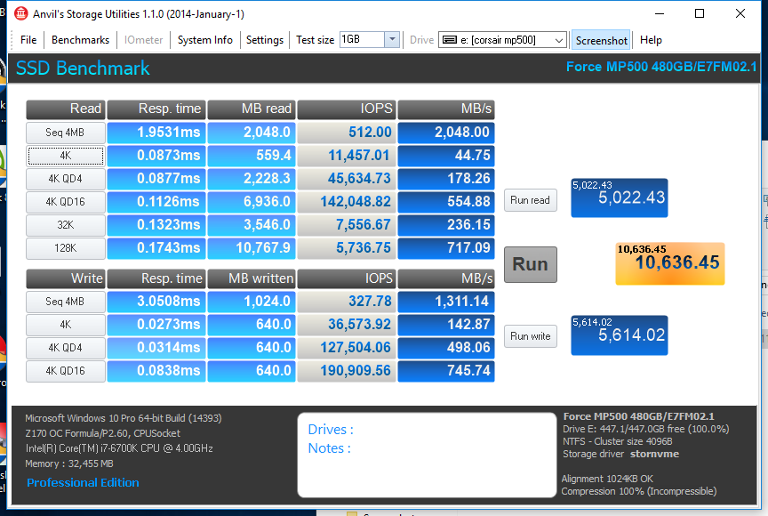 CORSAIR MP500 SSD 480GB ANVIL